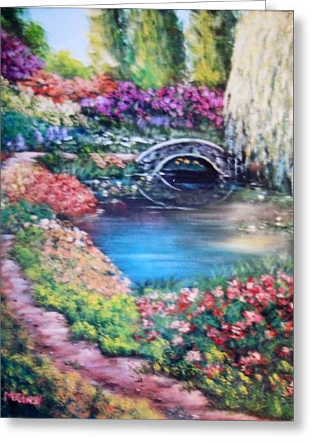 Shades Of Giverny Greeting Card