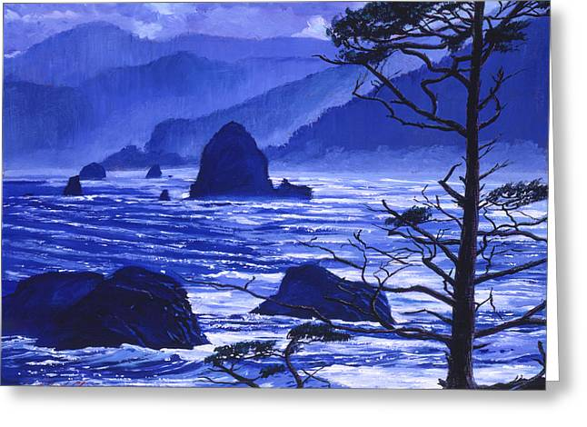 Shades Of Pacific Blue Greeting Card