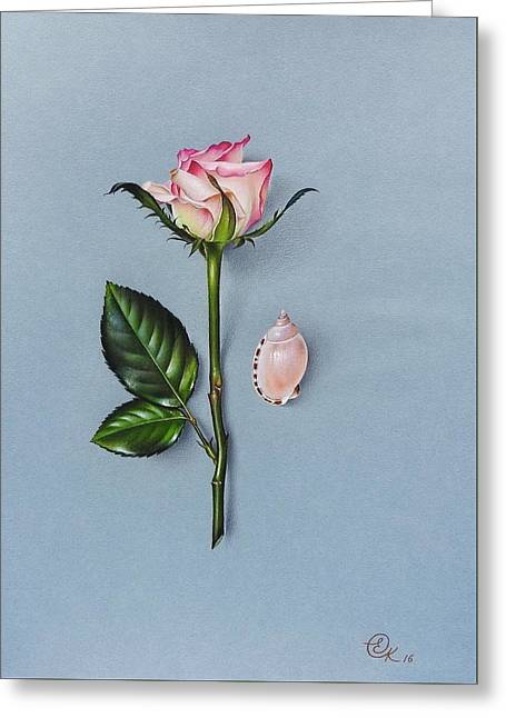 Shades Of Pink Greeting Card by Elena Kolotusha