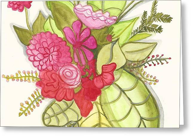 Shades Of Red Bouquet Greeting Card