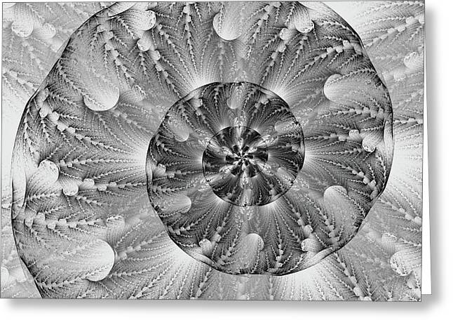 Shades Of Silver Greeting Card by Lea Wiggins