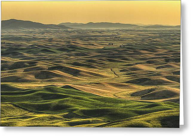 Shades Of The Palouse Greeting Card by Mark Kiver