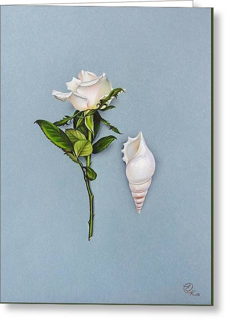 Shades Of White Greeting Card by Elena Kolotusha