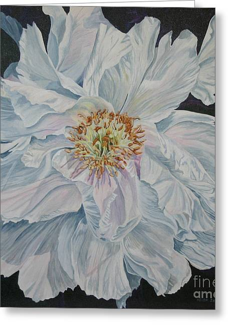 Shades Of White Greeting Card by Helen Shideler
