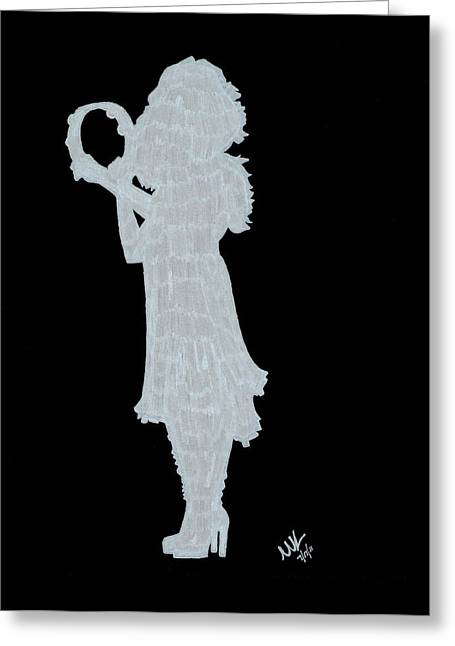 Shadow Against The Wall Greeting Card by Michelle Kinzler