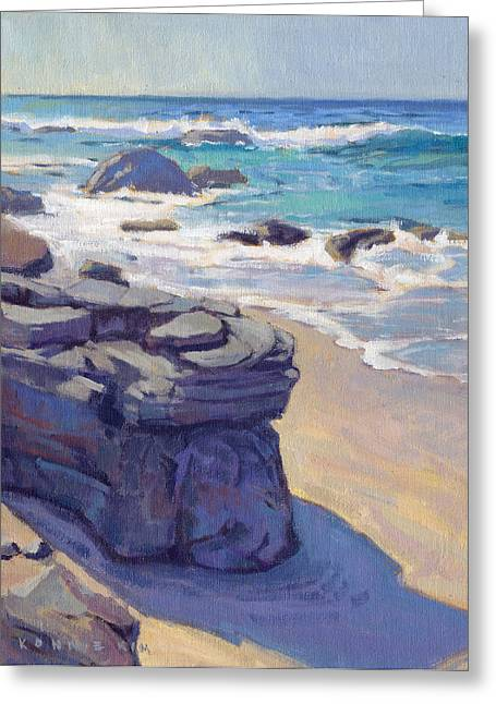 Greeting Card featuring the painting Shadow At Crystal Cove by Konnie Kim