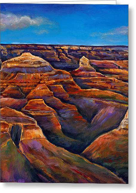 Canvas Wall Art Greeting Cards - Shadow Canyon Greeting Card by Johnathan Harris