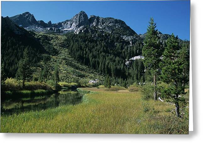 Shadow Creek - Mount Ritter And Reflections Greeting Card
