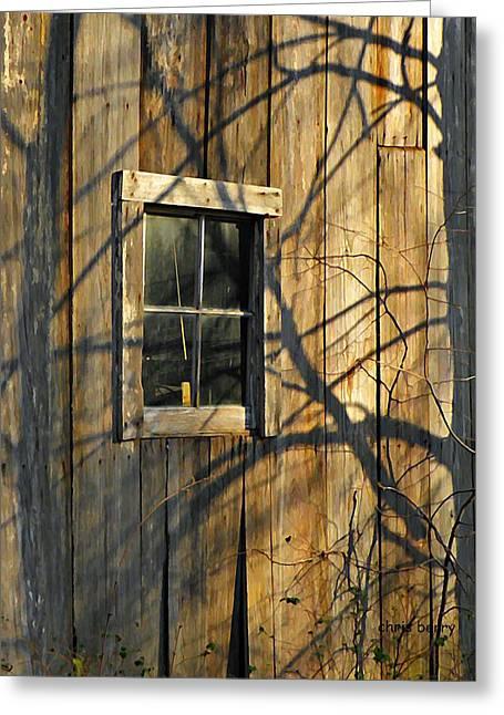 Shadow Farm Greeting Card by Chris Berry