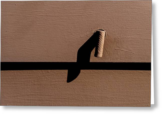 Greeting Card featuring the photograph Shadow Handle by Britt Runyon