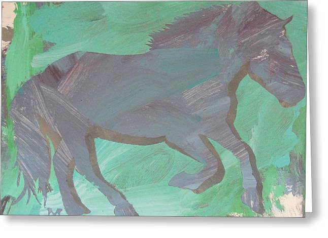 Shadow Horse Greeting Card