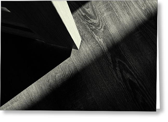 Greeting Card featuring the photograph Shadow Light Door Abstract One by John Williams