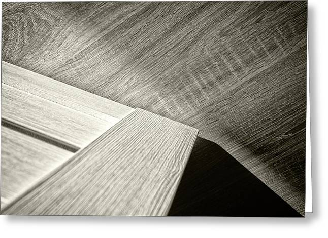 Greeting Card featuring the photograph Shadow Light Door Abstract Two by John Williams