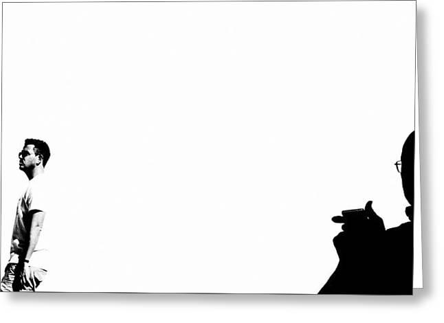 Shadow Man Greeting Card