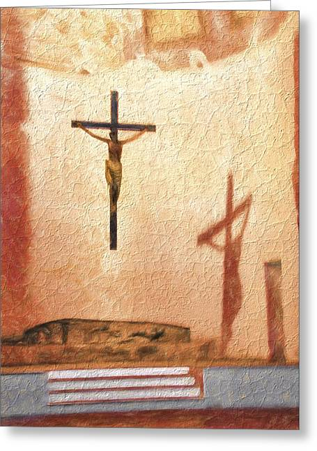 Shadow Of Christ Greeting Card