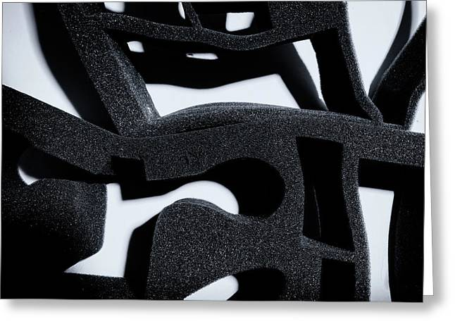 Greeting Card featuring the photograph Shadow Of Foam Abstract One by John Williams