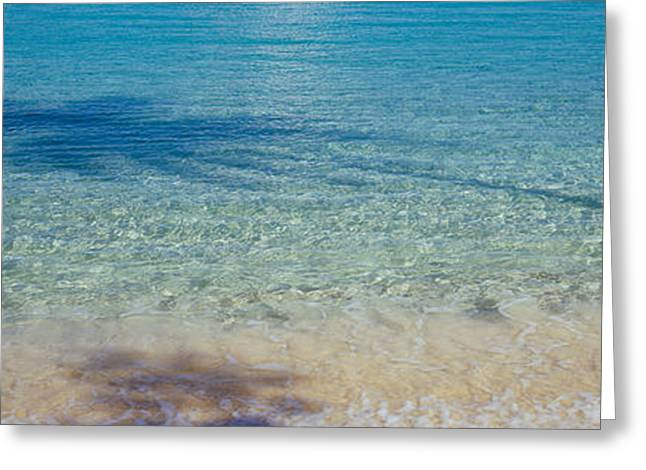 Shadow Of Trees On Water, Hawksnest Greeting Card by Panoramic Images