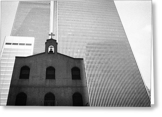 Shadow Of World Trade Center Greeting Card