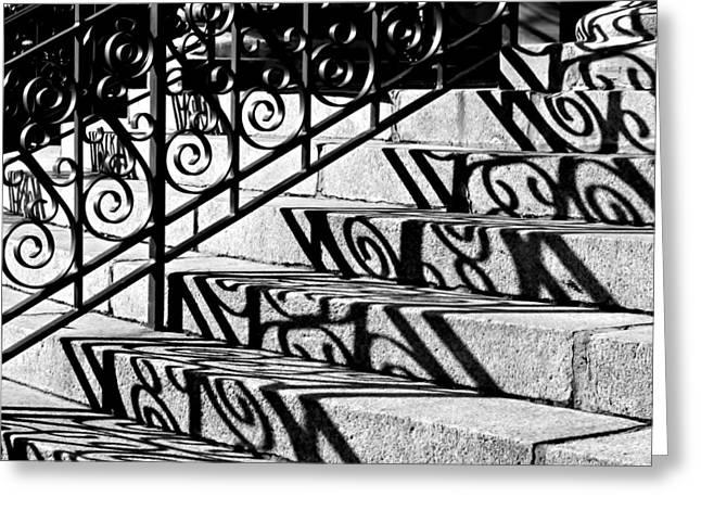 Shadow On The Rotunda Stairs Greeting Card
