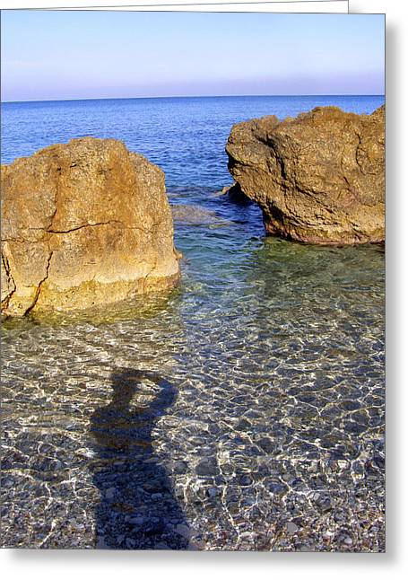 Shadow Pelion Greece Greeting Card