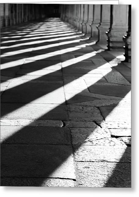 Shadow Play - Venice, Italy Greeting Card