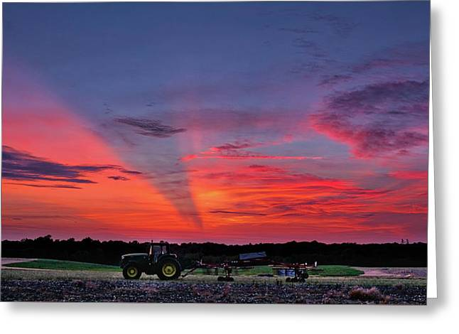 Greeting Card featuring the photograph Shadow Streak Sunset by Mark Dodd