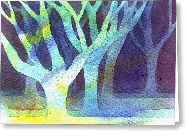 Shadow Trees Greeting Card by Jane Croteau