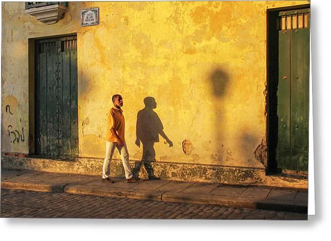 Shadow Walking Greeting Card