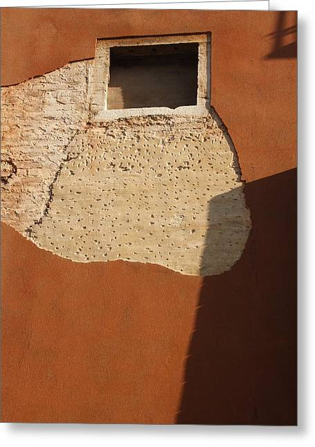 Shadow With Square Window In Venice Greeting Card by Michael Henderson