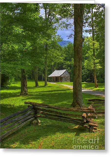 Shadows In Time Cades Cove Greeting Card