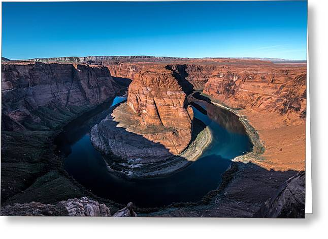 Shadows Of Horseshoe Bend Page, Arizona Greeting Card
