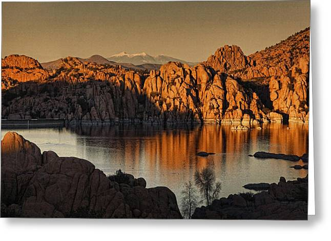 Shadows Of The Setting Sun Tx2 Greeting Card by Theo O'Connor