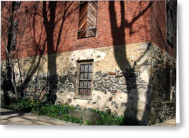 Greeting Card featuring the photograph Shadows On A Brandywine Wall by Don Struke