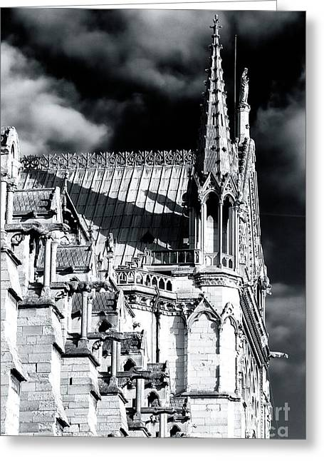 Shadows On Notre Dame Greeting Card
