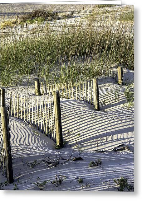Shadows On The Dune Greeting Card by Elizabeth Eldridge