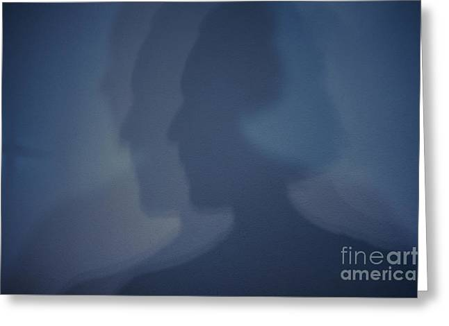 Inner Self Photographs Greeting Cards - Shadows on Wall Greeting Card by Jim Corwin