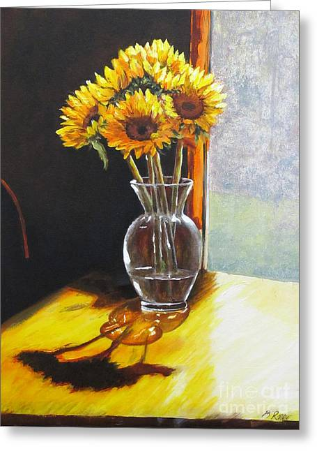 Shadows Greeting Card by Pam Raney