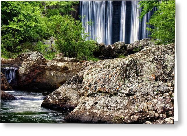 Shady Lake Falls Greeting Card