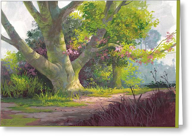 Shady Oasis Greeting Card by Michael Humphries