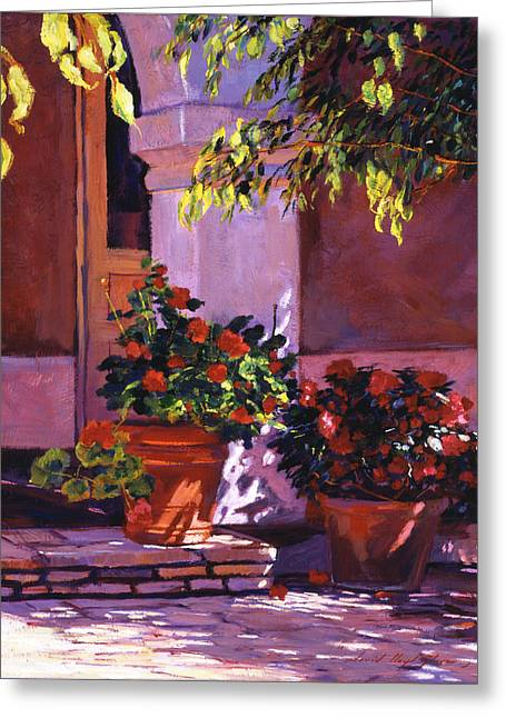 Shady Patio Greeting Card