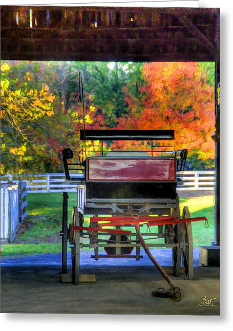 Shaker Carriage Barn 2 Greeting Card