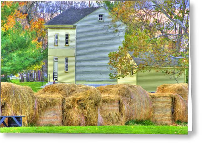 Shaker Harvest Hay Greeting Card