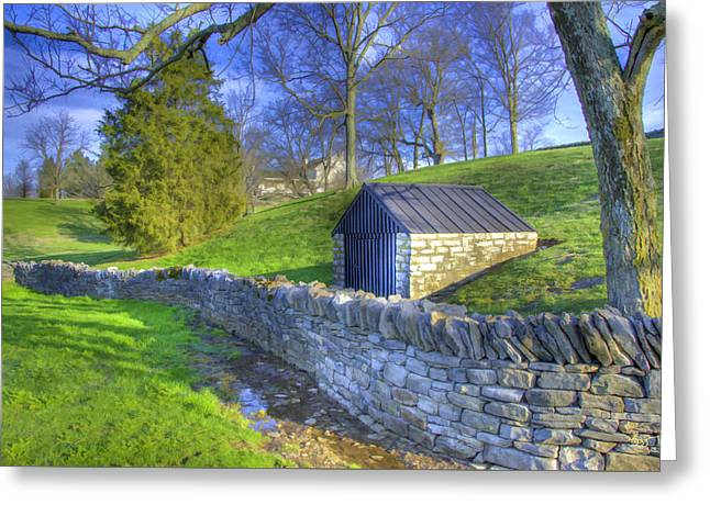 Shaker Stone Wall 6 Greeting Card