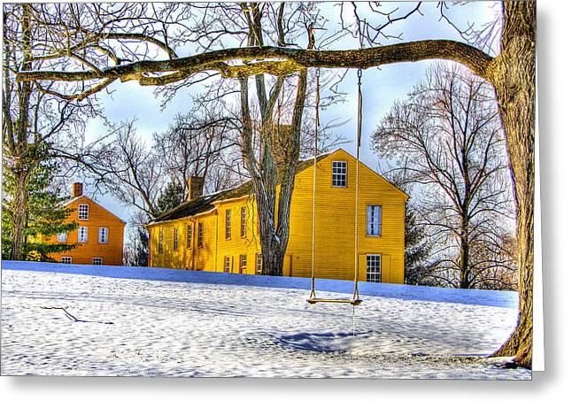 Shaker Swing In Winter 2 Greeting Card