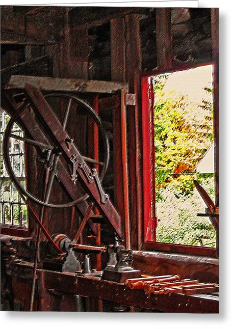 Shakers Woodshop Greeting Card by Steve Ohlsen