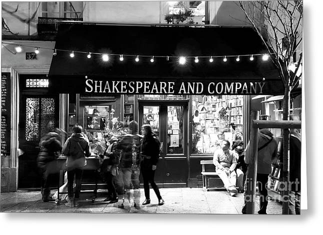 Shakespeare And Company Greeting Card by John Rizzuto