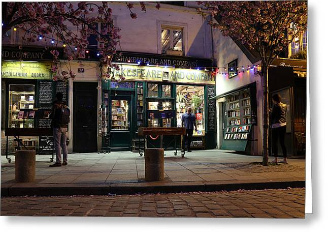 Greeting Card featuring the photograph Shakespeare Book Shop 1 by Andrew Fare