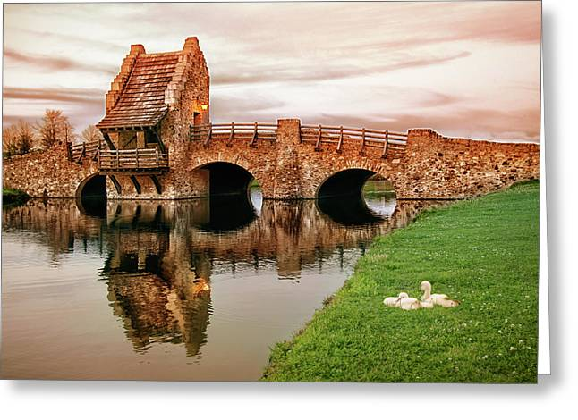 Shakespeare Bridge Greeting Card by Iryna Goodall