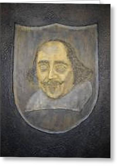 Greeting Card featuring the mixed media Shakespeare by Edwin Alverio