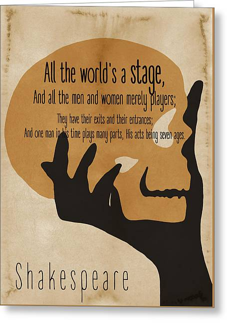 Shakespeare Philosophical Quote 2 - By Diana Van Greeting Card by Diana Van